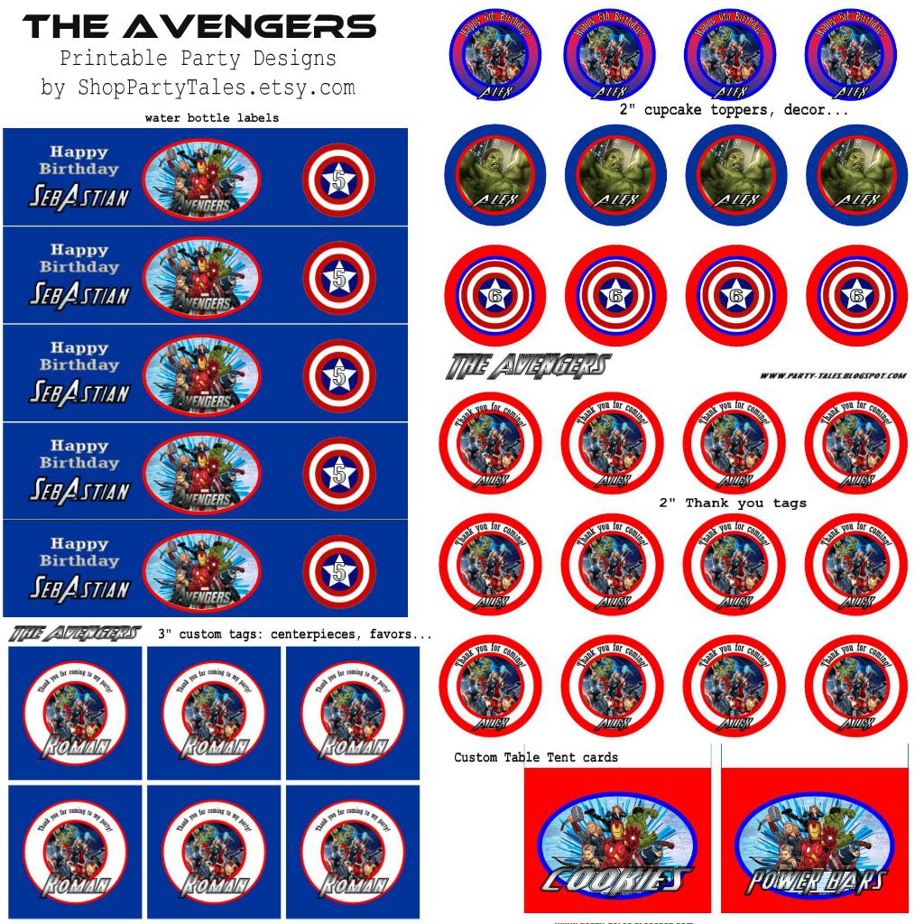The AVENGERS Printable Party Collection Is Now Available In Shop