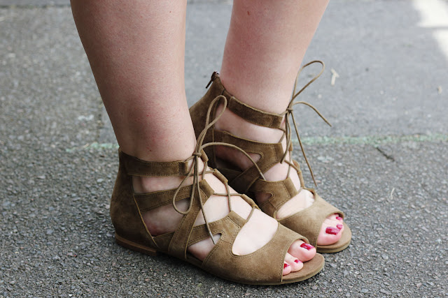 Marks and Spencer lace up sandals