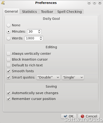 FocusWriter 1.4 – Preferences