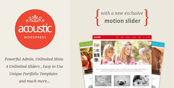 Image for Acoustic – Powerful Elegant Theme by ThemeForest