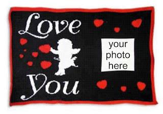 """Love You"" photo throw"