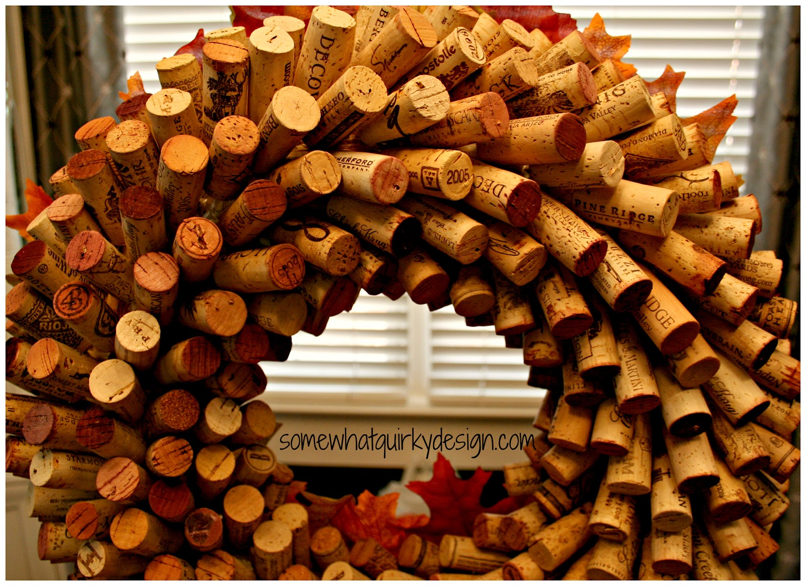 Somewhat Quirky How To Make A Wine Cork Wreath Fall Fix Up 5