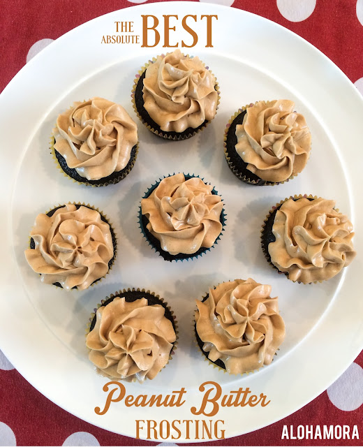 This is the absolute very BEST Peanut Butter Frosting.  It's light and creamy and full of peanut butter goodness.  This pb frosting is amazing with cake and delicious on chocolate cupcake recipe.  The recipe is perfect for a small 6 inch double layer cake or 12 cupcakes... b/c when do you ever need more than 12 cupcakes. Alohamora Open a Book http://www.alohamoraopenabook.blogspot.com/