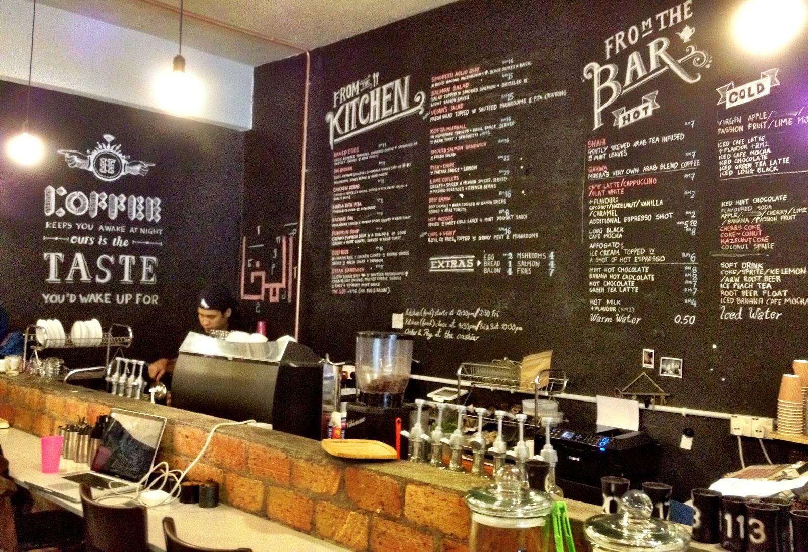 Hipster Cafe Menu