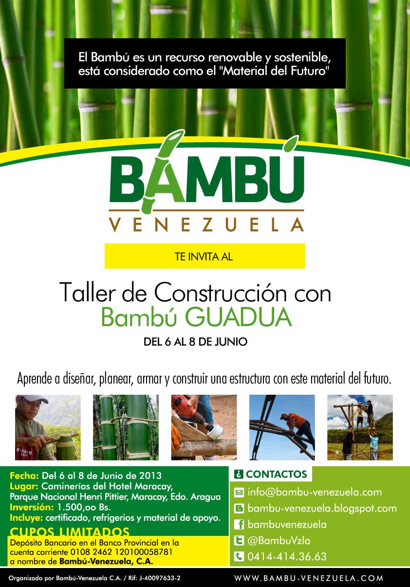 Bamb venezuela taller de construcci n con bamb guadua - Cultivo del bambu ...