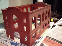 Painting main structure with brick red Humbrol Enamel