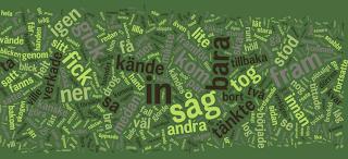 ordmoln av ord från Porten