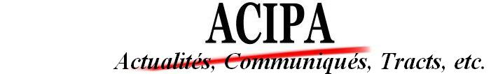 Actualités et communiqués de presse de l'ACIPA et de la Coordination des opposants à NDL