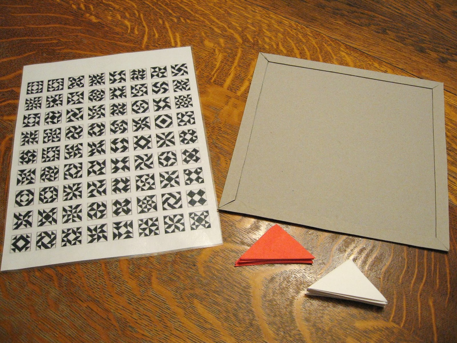 Almost Unschoolers: Half Square Triangle Quilt Puzzle - Math Meets Art