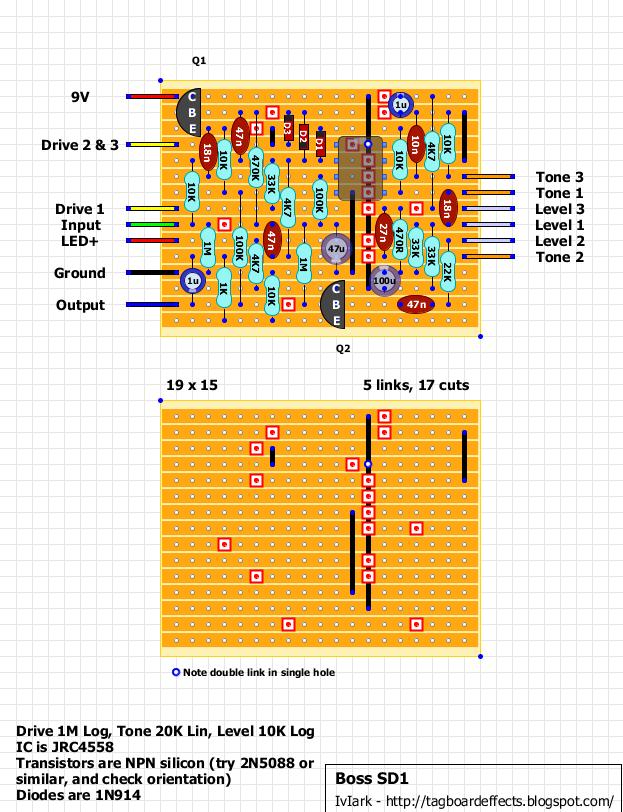 Guitar Fx Layouts Boss Sd1 Super Distortionrhtagboardeffectsblogspot: Boss Sd 1 Schematic At Gmaili.net