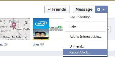 block Friends on Facebook