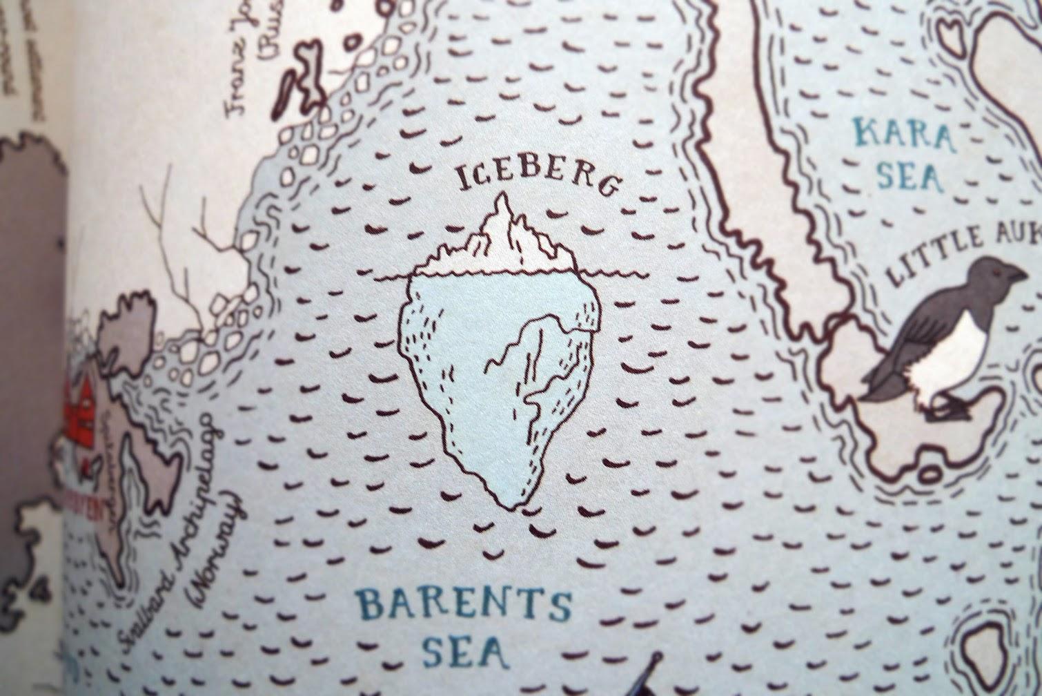 Detalle del libro MAPS, Atlas ilustrado por Aleksandra Mizielinska y Daniel Mizielinski