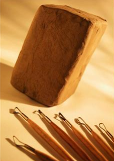 clay and sculpting tools