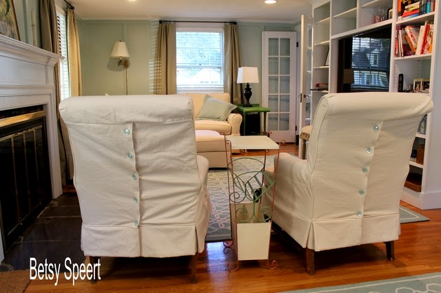 Betsy speert 39 s blog how to reupholster dining chairs with - How to reupholster a living room chair ...