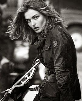 Belstaff moda jaquetas de couro feminina