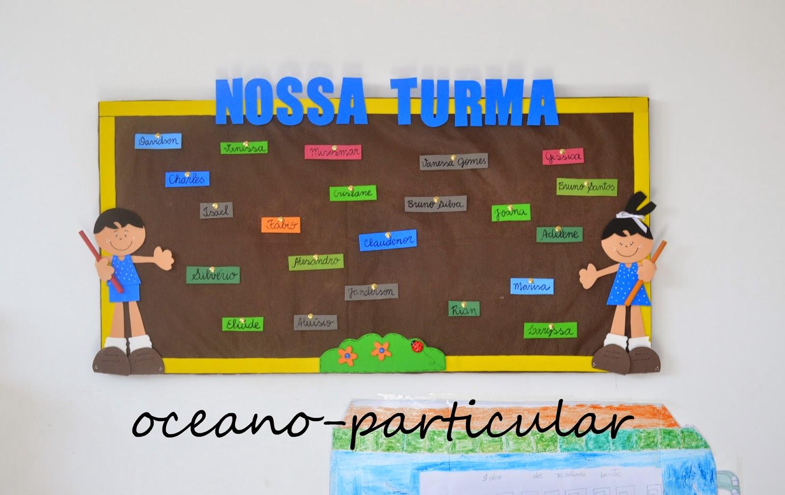 Oceano particular painel em eva para sala de aula for Mural de isopor e eva