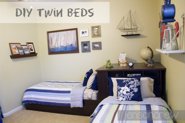 Jenson crew j crew twin beds diy - Twin bed for small space property ...