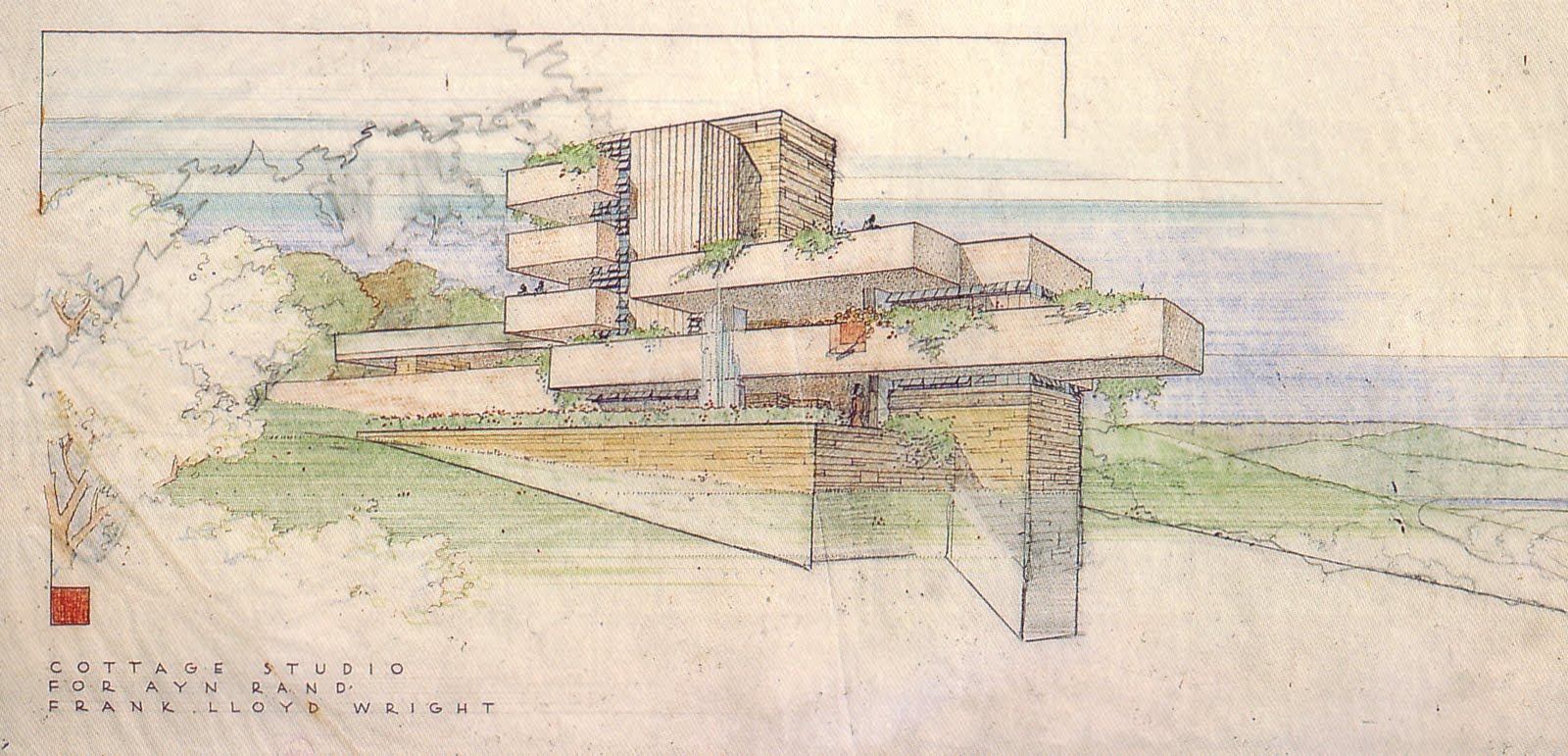 Polis Echoes Of Falling Water In Wright S Unbuilt Projects