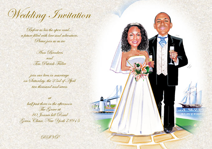 Humorous wedding invitations are a popular way to lighten up the sometimes