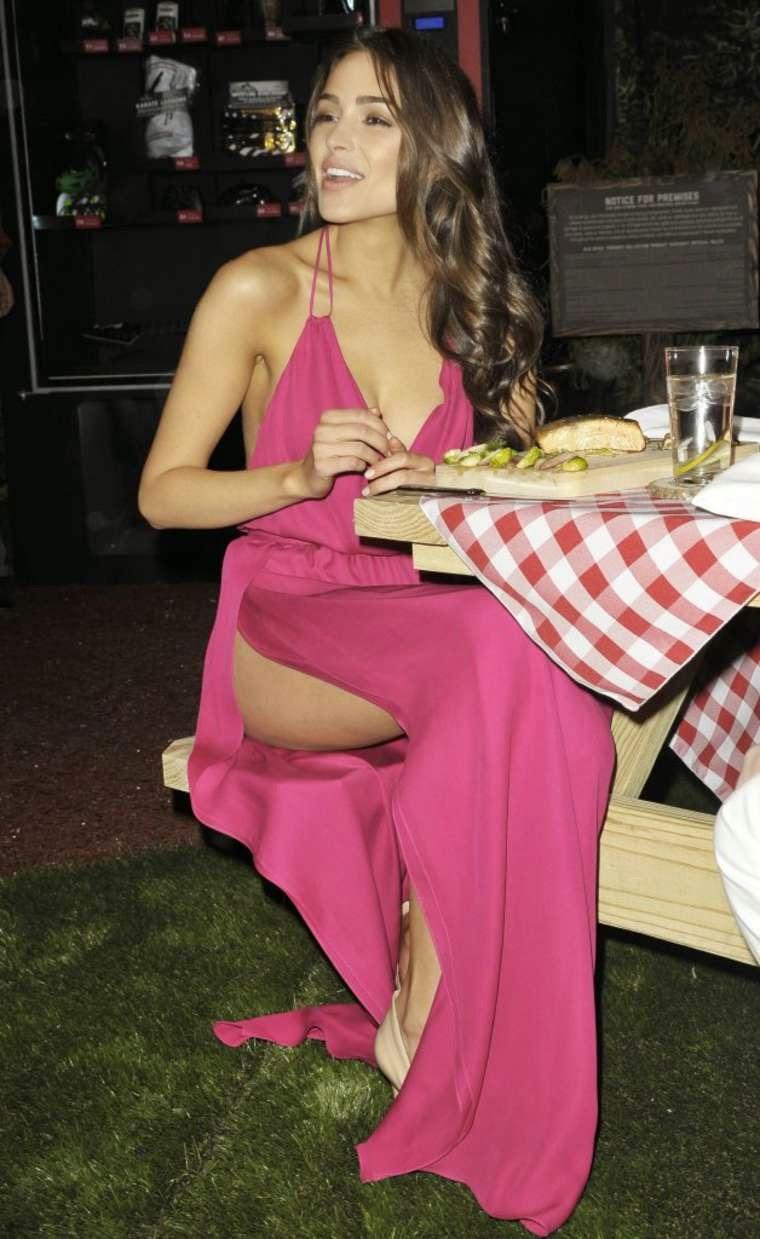 Olivia Culpo bares cleavage and legs at the Old Spice Fresher Collection Launch in NYC