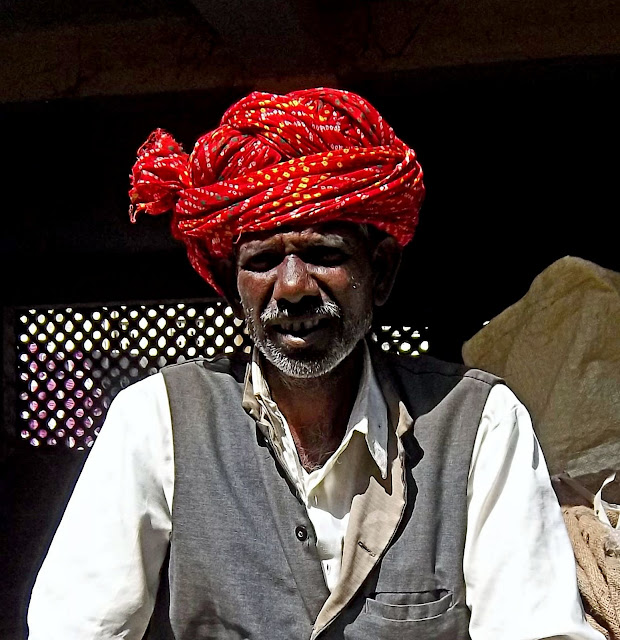 portrait of an elderly Rajasthani man