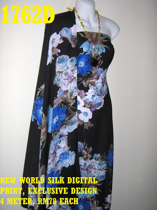 NWS 1762D: NEW WORLD SILK DIGITAL PRINTED, EXCLUSIVE DESIGN, 4 METER