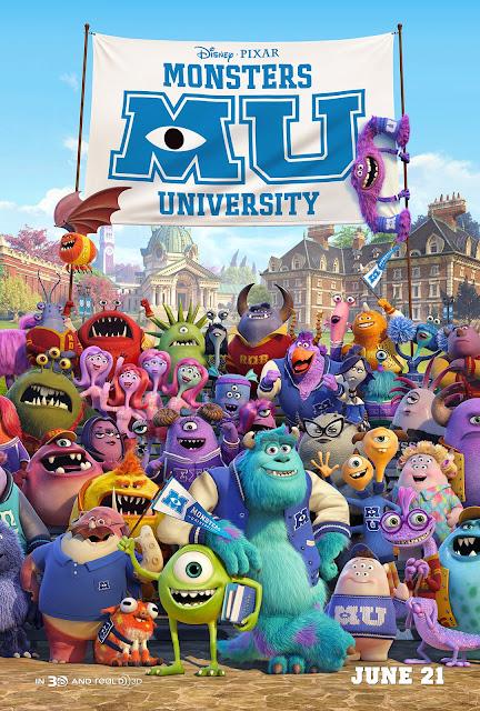 """Poster de Monster University"""" MU"""
