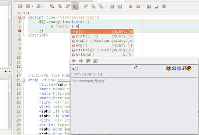 jQuery Autocomplete NetBeans