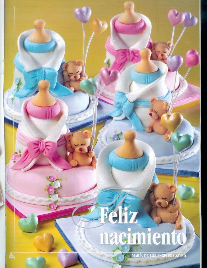 Torta Feliz nacimiento con ositos ♥