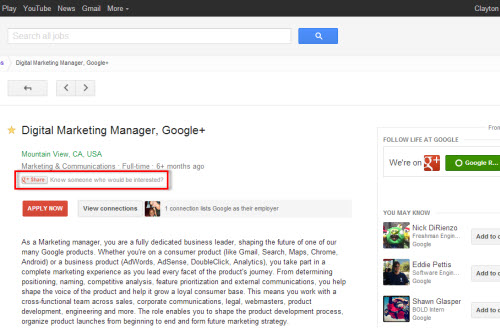 Share Position on Google+