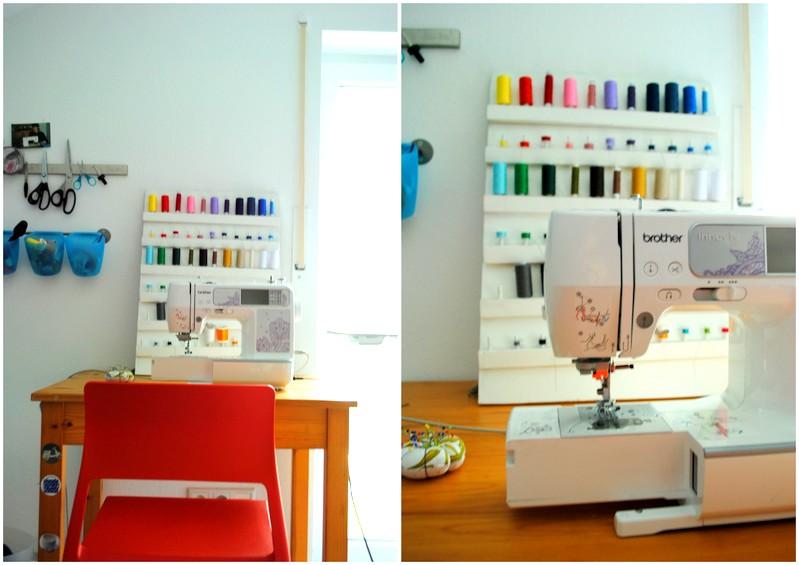 Bunte Knete von Frl Päng Einblicke in mein Nähzimmer  ~ Nähmaschine Ikea