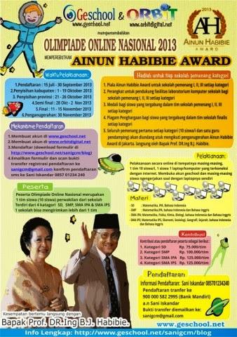 Olimpiade Online Nasional Ainun Habibie Award 2013