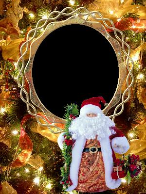marco de foto navidad