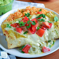 Easy Baked Chicken Chimichangas   by Life Tastes Good