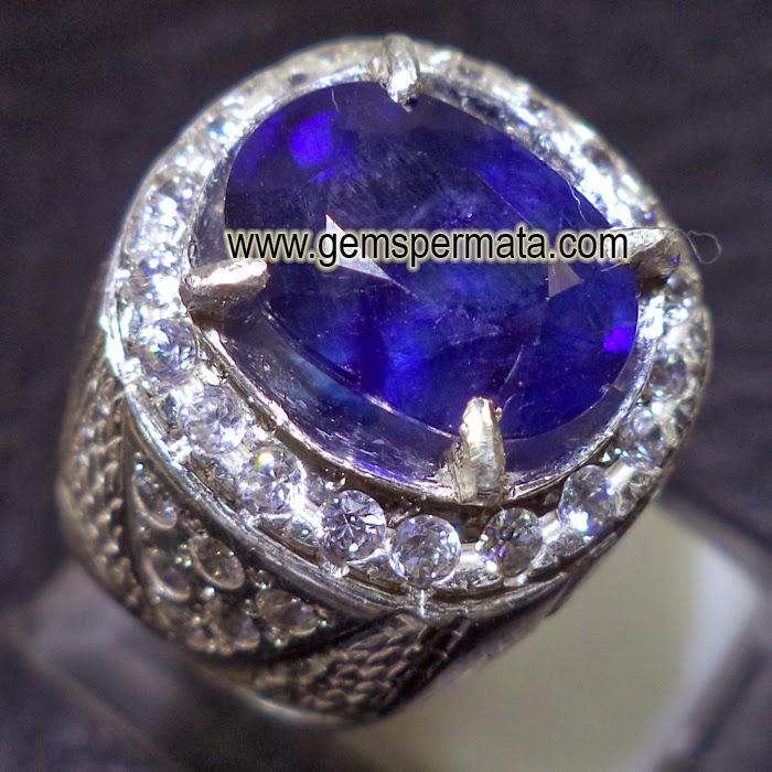 Toko Batu Permata, Natural Blue Sapphire Corundum Kode 911