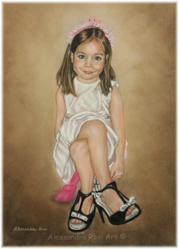 pastel child portrait, portrait from photo of your child, custom portrait