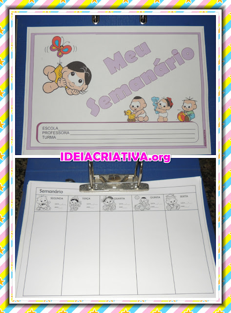 Modelo de Semanário para  Educação Infantil Fichas para Imprimir