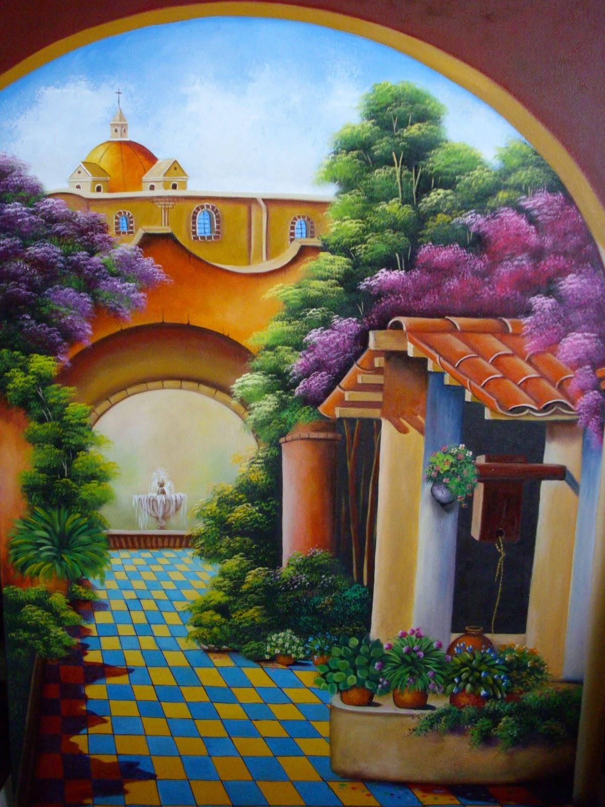 Pinturas cuadros pinturas al leo de paisajes en arte - Cuadros para pintar ...