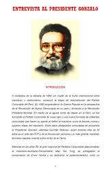 ENTREVISTA AL PRESIDENTE GONZALO