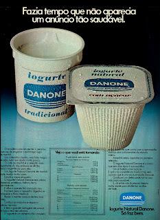 propaganda iogurte Danone - 1974. década de 70. os anos 70; propaganda na década de 70; Brazil in the 70s, história anos 70; Oswaldo Hernandez;