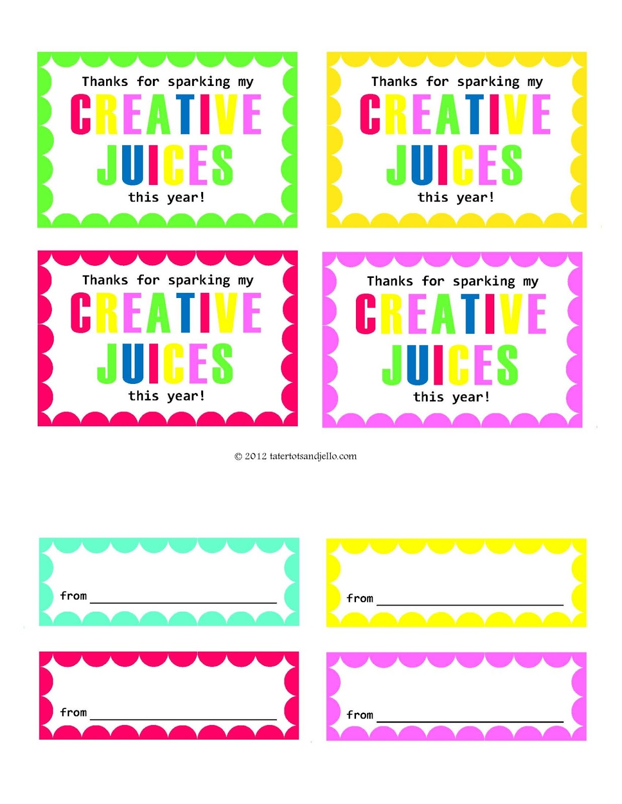Versatile image for teacher appreciation printable tags