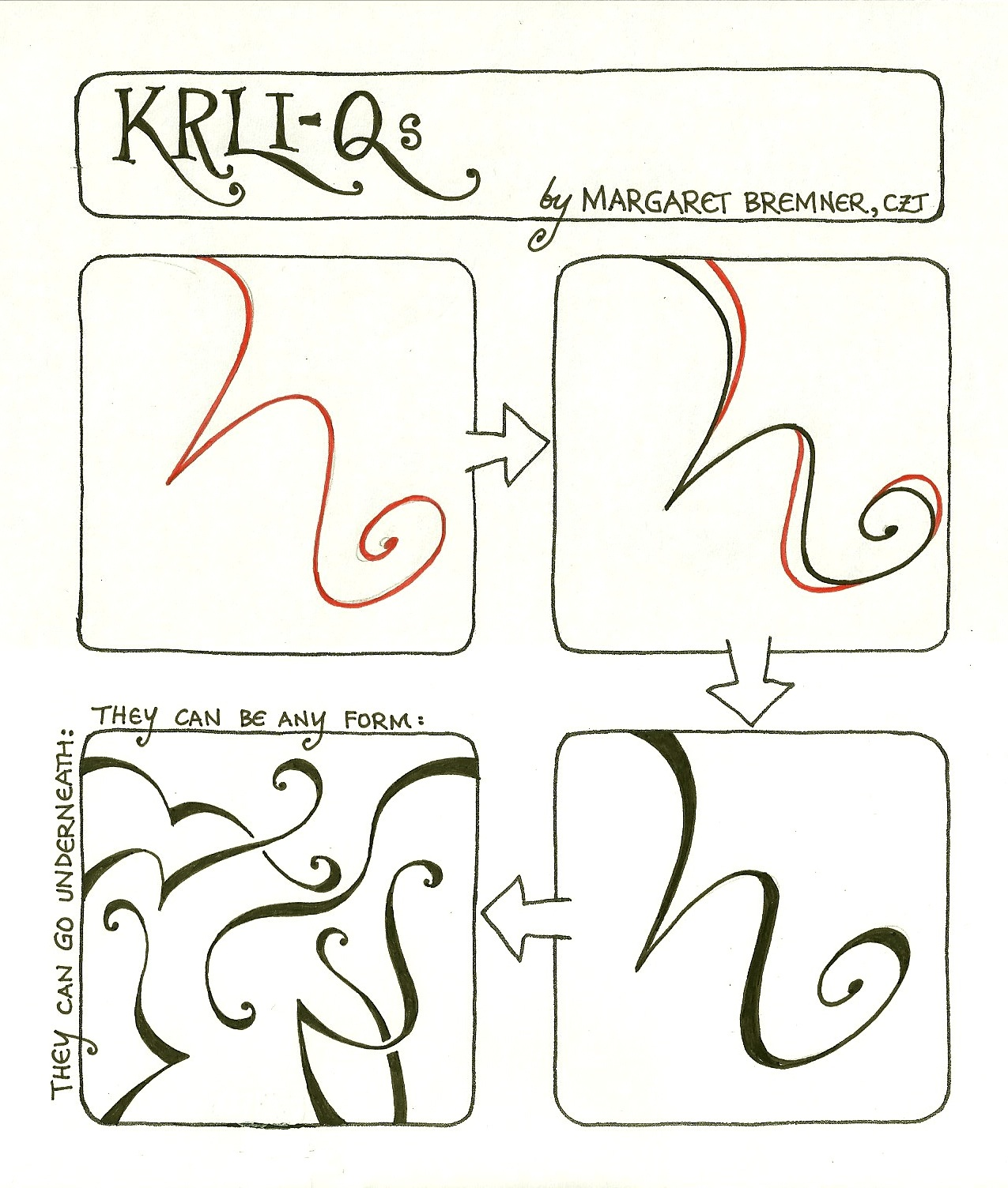 Enthusiastic Artist Krli Q Tangle Instructions