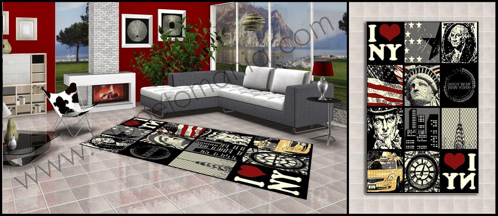 tappeti moderni soggiorno salotto