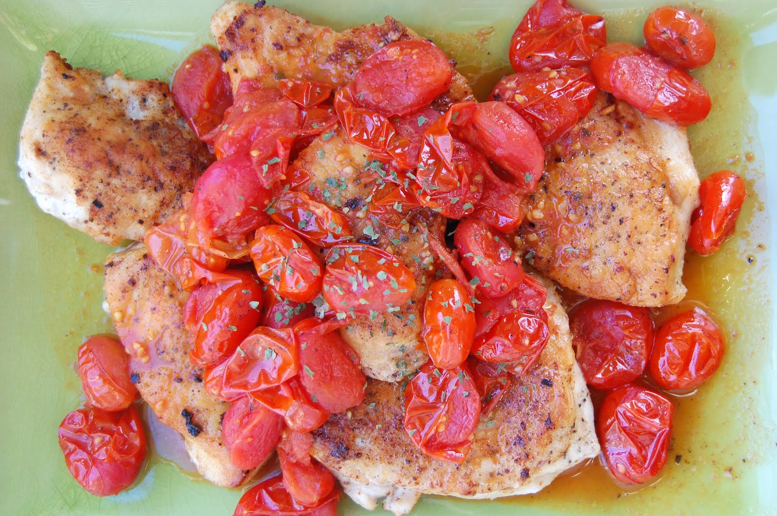 Emily Can Cook: Chicken with Tomato Herb Pan Sauce & Garlic Rice Pilaf
