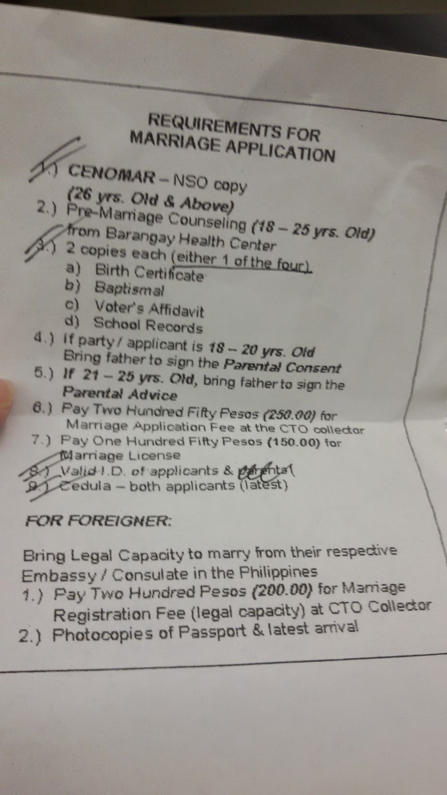 Marriage license requirements getting married in the philippines what i did a week after i got engaged is i went to the office of the city registrar and immediately asked for a copy of the requirements needed altavistaventures Choice Image