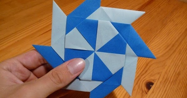 Origami Chinese Throwing Star Origami Flower Easy