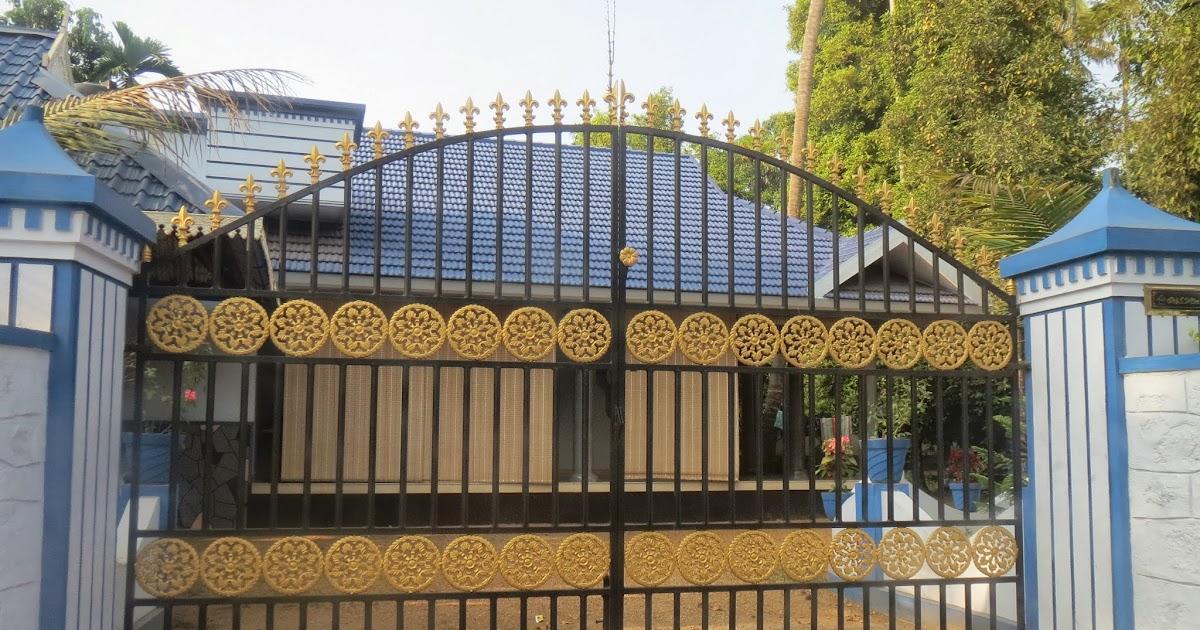 Kerala gate designs kerala house gates for Kerala home designs 2014