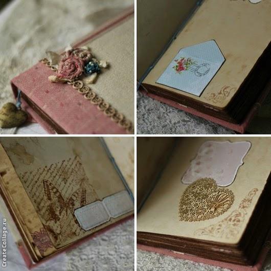 личный дневник, состаренный блокнот, винтажный стиль