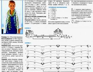 Вязанные ажурные шарфики схемы