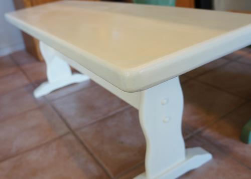 paint bench cream refinish
